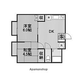 プロスパーC[1階]の間取り