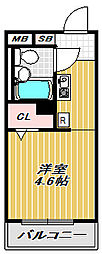 レクセル目黒[4階]の間取り