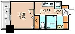サヴォイ箱崎セントリシティ[12階]の間取り