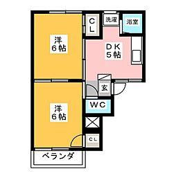 フォーブル伊藤[2階]の間取り