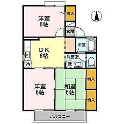 ハーモニック・フィール2B棟[205 号室号室]の間取り