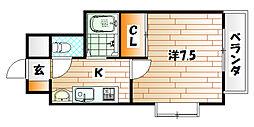パークサイド60[11階]の間取り
