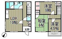 [テラスハウス] 神奈川県鎌倉市岡本2丁目 の賃貸【/】の間取り