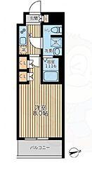 京王線 八幡山駅 徒歩10分の賃貸マンション 7階1Kの間取り