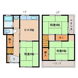 [一戸建] 奈良県奈良市東九条町 の賃貸【奈良県 / 奈良市】の間取り