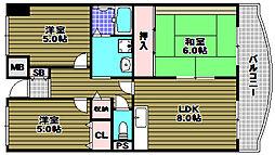 プレスト・コート弐番館[4階]の間取り
