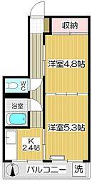 中銀青木公園団地2号棟[105号室]の間取り