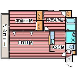 パルコートDEN[2階]の間取り