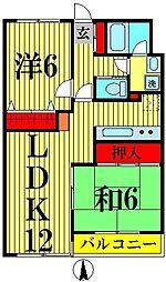 モアグレース竹の塚[3階]の間取り