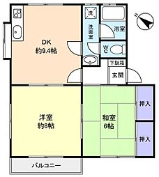 メゾン高台[2階]の間取り