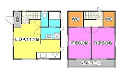 [一戸建] 東京都清瀬市中里3丁目 の賃貸【/】の間取り
