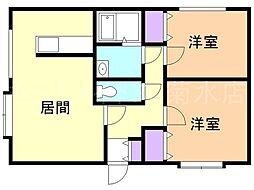第6ミカエルマンション[3階]の間取り
