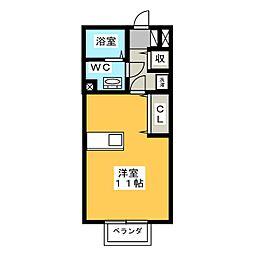 セジュールドマーニ[2階]の間取り