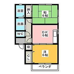 TWIN PALACE E棟[1階]の間取り