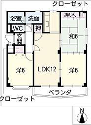 シャルマンOMG[1階]の間取り