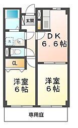 滋賀県大津市下阪本1の賃貸アパートの間取り