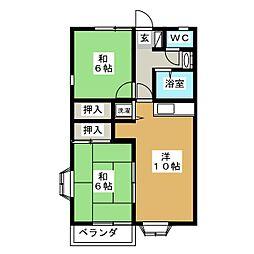 サザンコート泉崎[1階]の間取り