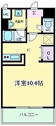 Osaka Metro御堂筋線 長居駅 徒歩2分の賃貸マンション 1階1Kの間取り