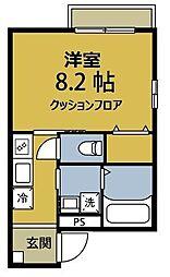 神奈川県川崎市幸区紺屋町の賃貸マンションの間取り