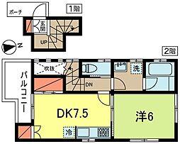HTヴィラ B棟[2階]の間取り