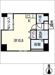 GRANDUKE東別院crea[12階]の間取り