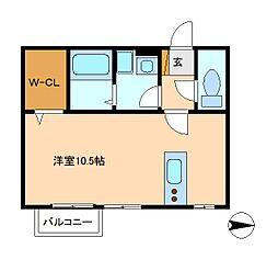 モナリエ古ヶ崎2[1階]の間取り