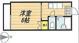 メゾンムサシ[1階]の間取り