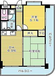 ライオンズマンション小倉駅南第2[207号室]の間取り