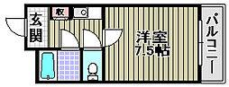 メゾン阪南2[4階]の間取り