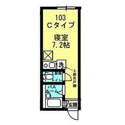 Well−B横濱反町I[0103号室]の間取り