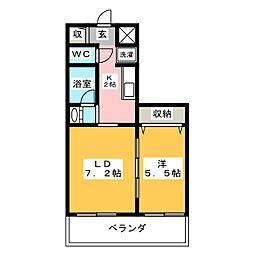 レガーロ北寺島[8階]の間取り