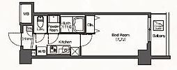 JR埼京線 板橋駅 徒歩6分の賃貸マンション 3階1Kの間取り