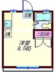 神奈川県横浜市神奈川区白幡町の賃貸アパートの間取り