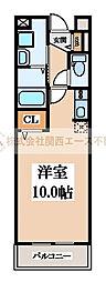 サンクレール北花田[1階]の間取り