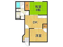 加島ツーフォー[1階]の間取り