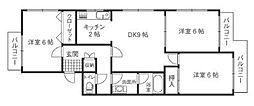 西日本かなえ第3ビル[3階]の間取り