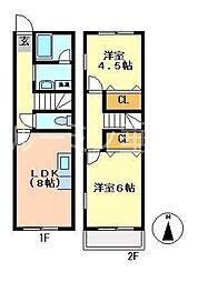 [テラスハウス] 兵庫県小野市下来住町 の賃貸【兵庫県 / 小野市】の間取り