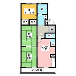 アリスマンション 北棟[4階]の間取り