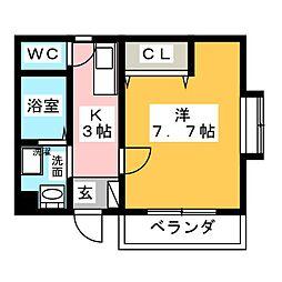 レジデンスTOKI[1階]の間取り