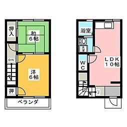 [テラスハウス] 愛知県稲沢市石橋2丁目 の賃貸【/】の間取り