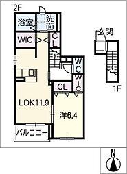 リルシアI[2階]の間取り