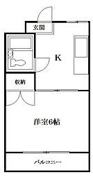 セントラルマンションリイ[3階]の間取り