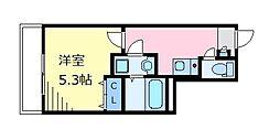 フェリーチェ高円寺C 1階1Kの間取り