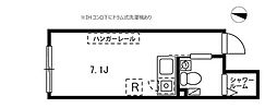プロト大岡山 4階ワンルームの間取り