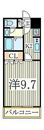 ヴァンベールヤマモト[1階]の間取り