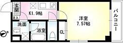 神奈川県相模原市中央区相模原1丁目の賃貸アパートの間取り