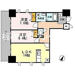 JR山手線 巣鴨駅 徒歩4分の賃貸マンション 4階2LDKの間取り