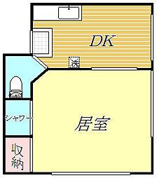 東京都豊島区北大塚2丁目の賃貸アパートの間取り