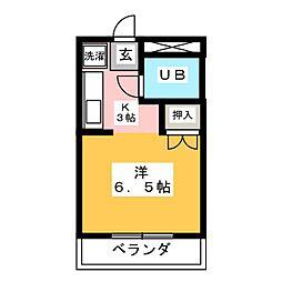 OMレジデンス西岐阜[1階]の間取り