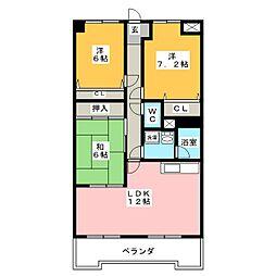オーキッドマンション星崎[3階]の間取り